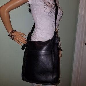 COACH Legacy Vintage Bucket Black Leather Bag